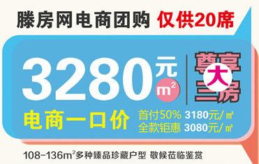 滕房網電商團購杏騰國際 全部一口價3280元/平方米