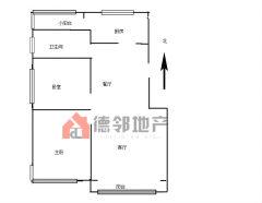 (城东)人和蓝湾2室2厅1卫96.64m2简单装修