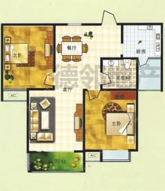 百合花园两室两厅精装修107平证满两年可贷款