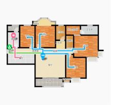 (市中心)中央城4室2厅2卫前排东户,客厅卧室朝阳,南北通透