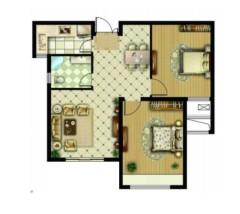 (城北)三盛星尚城2室2廳1衛95.3m2簡單裝修
