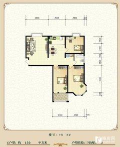 紧邻冯河学校3室2厅1卫133m²豪华装修