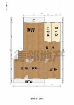 (市中心)龍泉苑3室2廳2衛144m2簡單裝修130萬