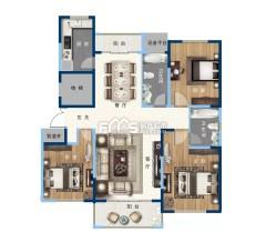 缇香郡3室好楼层150m²精装售楼处手续让利