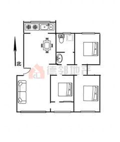 (城南)荆善南苑3室2厅1卫130m²豪华装修