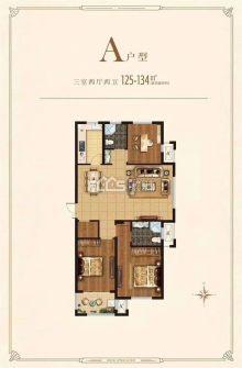 (城东)城建东城名景3室2厅1卫129m²毛坯房
