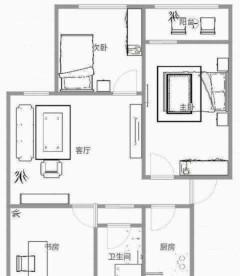 (市中心)春秋阁3室1厅1卫84m²简单装修