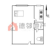 (市中心)爱家豪庭1室1厅1卫50m²豪华装修47.6万