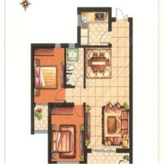 大同印象西区105平高层出售 两室两厅可改三室