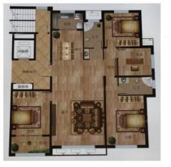 (市中心)鑫佳玫瑰园208m²大四室毛坯房可贷款售楼处手续