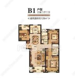 君瑞城:城北高端小区三室两厅中间楼层,可贷款有钥匙看房方便