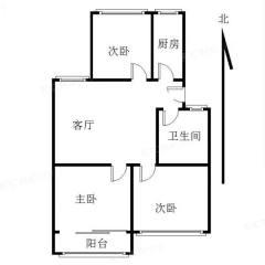 (市中心)幸福小区3室1厅1卫80.2m²简单装修