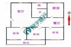荆河小区:好楼层三室两厅简单装修,有证可贷款送储藏室