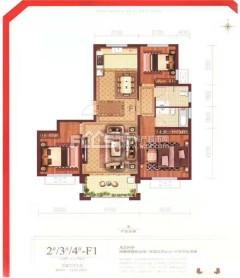 (城北)滕商奥体花园3室2厅2卫133.86m²毛坯房