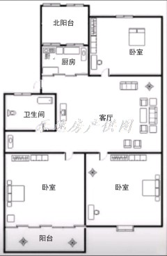东方明珠 3室 85m² 简单装修  证5 可贷款6楼顶