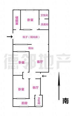 (市中心)新兴小区3室1厅1卫59m²79.8简单装修