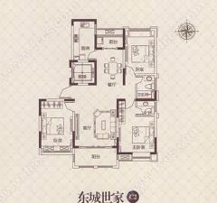 城东缇香郡 楼层好位置佳 毛坯三室 通透两室一厅朝阳 可分期