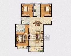 缇香郡二期 3室2厅1卫131m²毛坯房 绑定根据售楼处