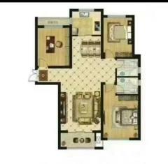 缇香郡二期,中间楼层,三室两厅两卫,毛坯房,售楼处手续