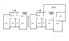 御冠丽景,顶楼复式7室3厅,毛坯送外露大平台,有钥匙随时看房