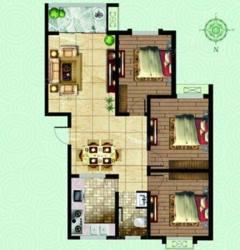 清华园3室2厅1卫,可分期,客厅卧室朝阳,户型很好!公摊小