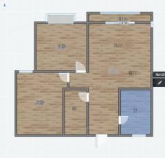 城北紫竹怡园精装两室,证满2可贷款,两室一厅朝阳户型,送家具
