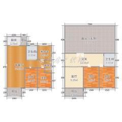 (城东)阳光丽景5室3厅3卫228m²豪华装修小高层复式