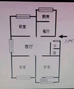 (城北)东方明珠3室2厅1卫99.72m²简单装修