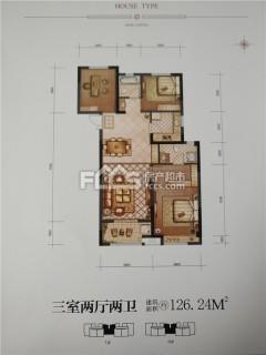 三盛星尚城3室2厅2卫128m²毛坯房带车位储藏室好楼层!!