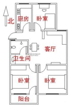 (城西)香格里拉花园4楼3室1厅1卫89m²简单装修