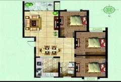 (城南)城建清华园3室2厅1卫98m²毛坯房