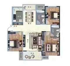 (城东)缇香郡3室2厅2卫 毛坯房 送储藏室