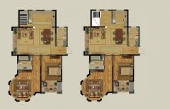 城北奥体花园5室2厅2卫280平222万标准复式全款包更名