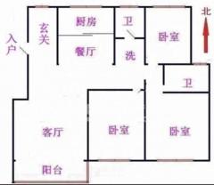 翠湖天地电梯洋房,满二年可贷款,两室一厅朝阳,全明格局