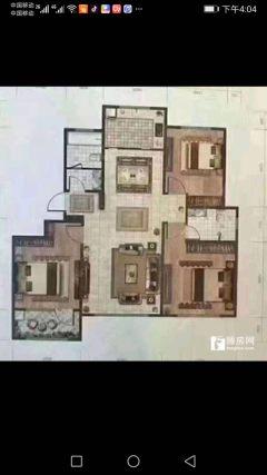 滨江国际花苑6楼3室2厅2卫精装修2室1厅朝阳167万