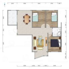 (城北)翔宇经典3室2厅1卫118.2m²豪华装修