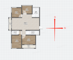 星尚城沈悦家园,顶楼回迁房,全款4室低价出售