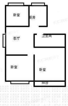 (城西)荆西花园3室2厅1卫84.36m²豪华装修