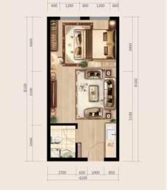 (城西)百地茂商城1室1厅1卫40m²简单装修
