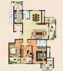 品质小区!(城北)龙泉首府3室2厅2卫163.6m²全明户型 朝向采光好