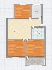 (市中心)前进花园3室1厅1卫78m²