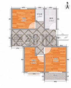 佳美广场西区3室78.8万108m²简单装修出售 接受议价