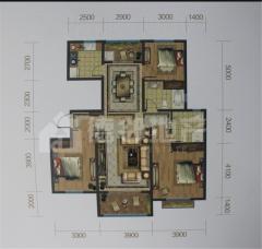 (城东)香舍水郡3室2厅2卫160万130m²简单装修出售